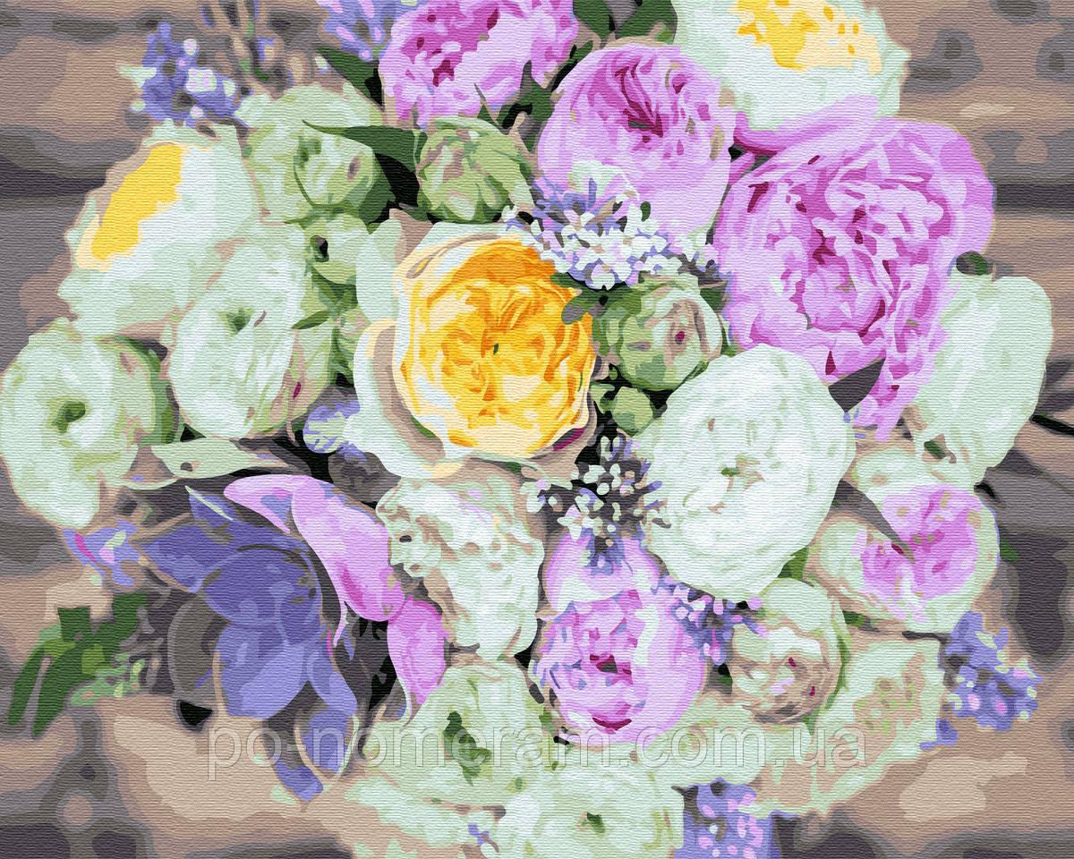 Картина по номерам  Букет разных цветов (BRM33273) 40 х 50 см
