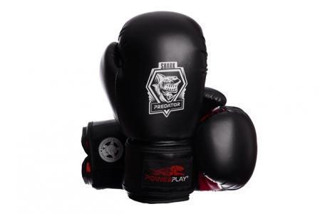 Боксерські рукавички PowerPlay 3001 Чорно-Червоні 14 унцій