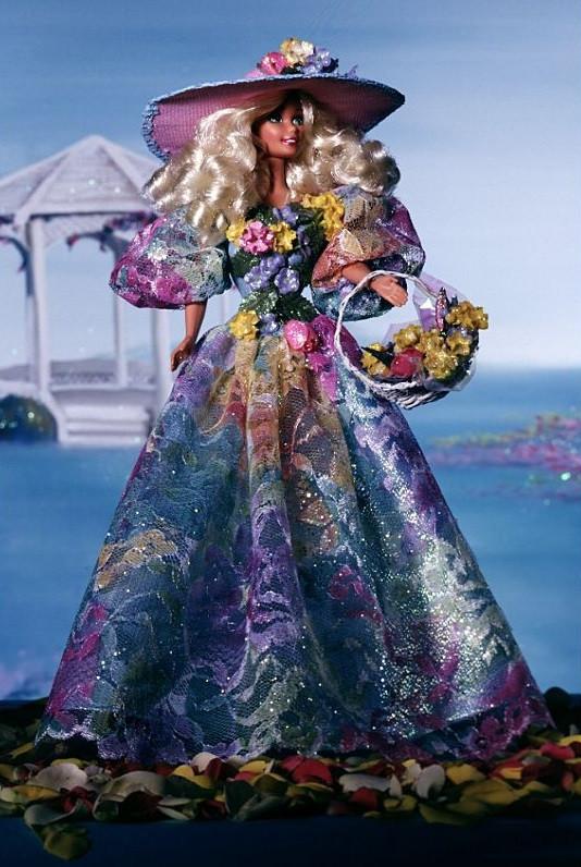 Коллекционная кукла Барби Весенний букет