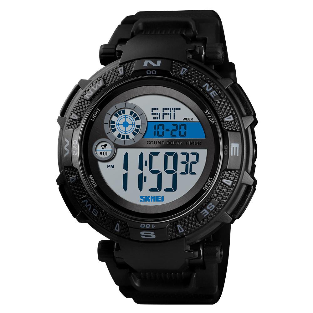 Skmei 1467 черные мужские спортивные часы
