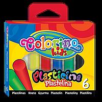 Пластилин, 6 цветов, Colorino