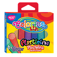 "Пластилин ""С блеском"",  6 цветов, Colorino"