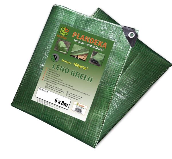 Тент (тарпаулин) LENO GREEN 8 х 10 м, 100г - прозрачный, PLCG1008/10 BRADAS POLAND