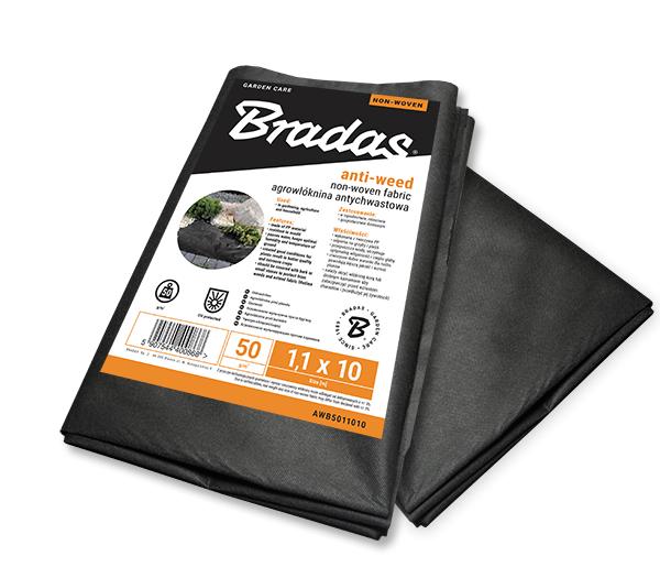 Агроволокно черное 50 гр/м², размер 2.1*10м, AWB5021010 BRADAS POLAND Бренды Европы