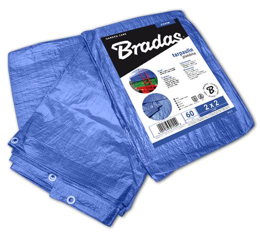 Тент водонепроницаемый, BLUE, 60 гр/м², размер 5 х 6м, PL5/6 BRADAS POLAND, фото 2