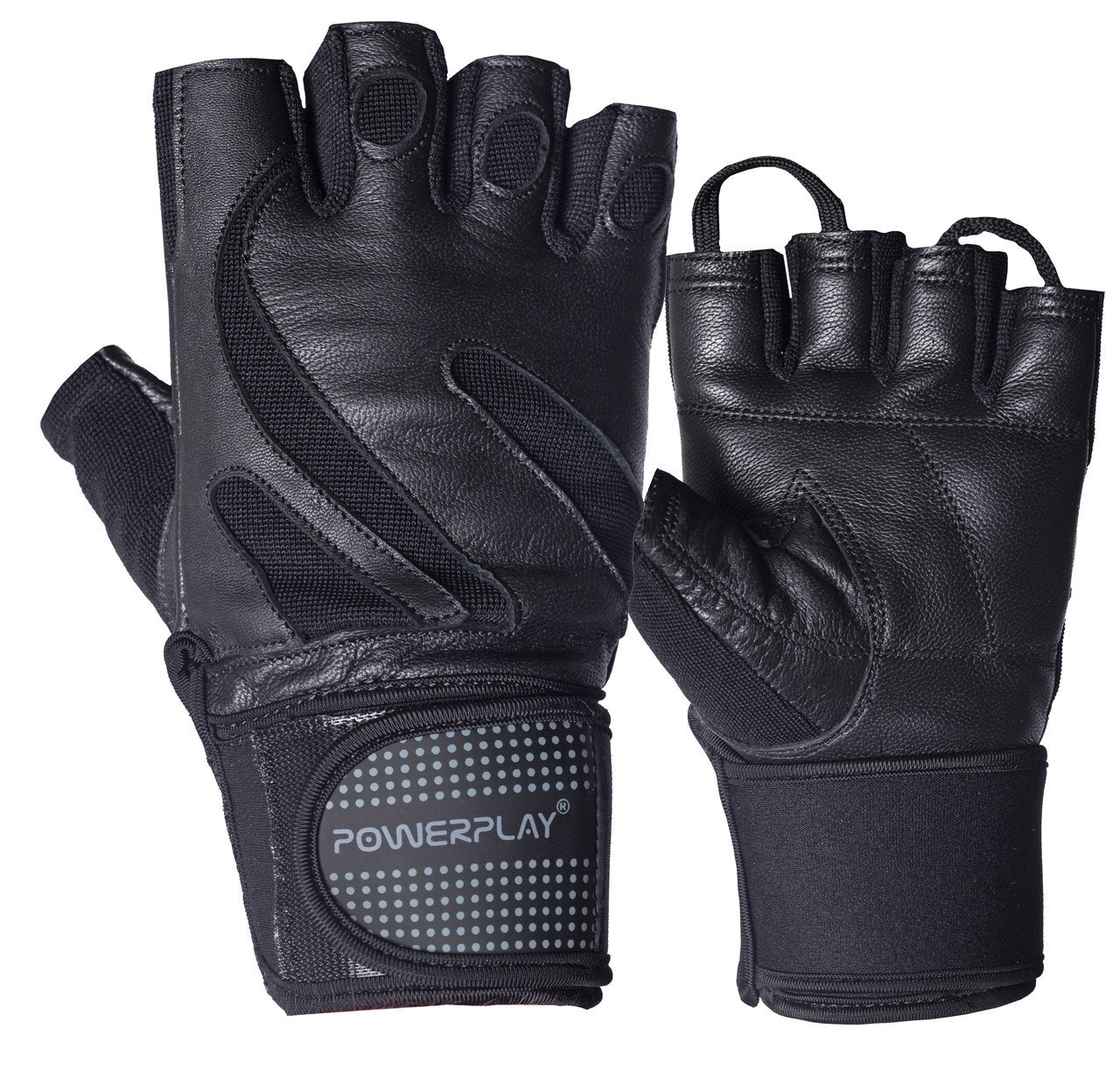 Рукавички для фітнесу PowerPlay 1064 Чорні M