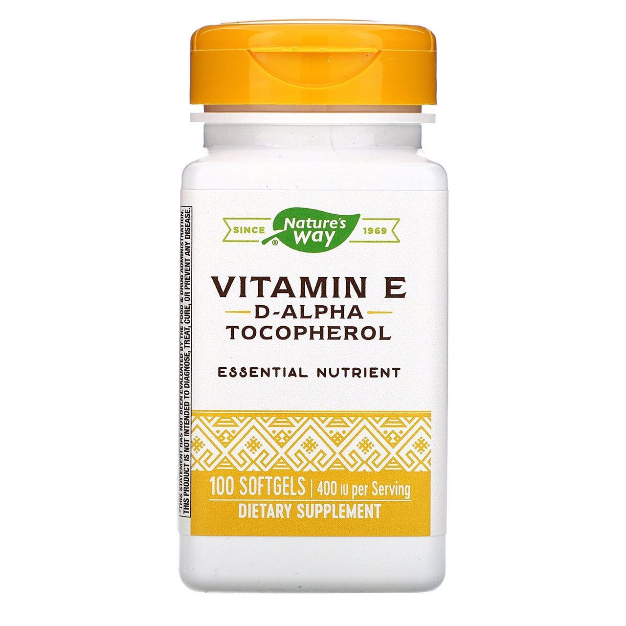 """Витамин Е, Nature's Way """"Vitamin E"""" 400 МЕ (100 капсул)"""