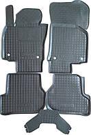 Коврики ковры салона резиновые (компл.5шт.) для Шкода Октавия А5 Skoda Octavia A5 борты SkodaMag