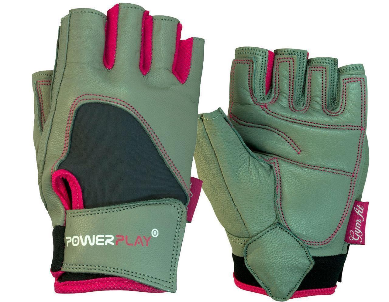Перчатки для фитнеса и тяжелой атлетики PowerPlay 1747 женские cерые S