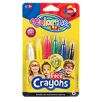 Карандаши для лица, 6 цветов, Colorino
