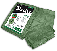 Тент водонепроницаемый, GREEN, 90 гр/м², размер 6 * 8м, PL906/8 BRADAS POLAND
