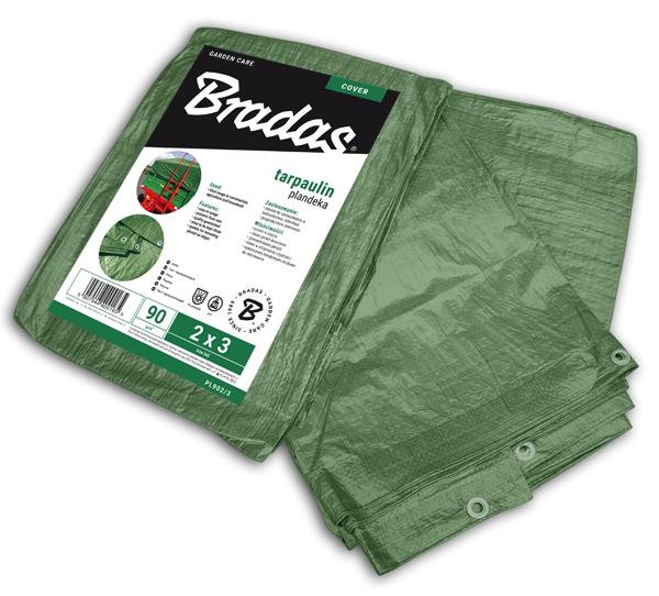 Тент водонепроницаемый, GREEN, 90 гр/м², размер 4 * 6м, PL904/6 BRADAS POLAND