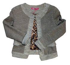 Нарядный жакет пиджак для девочки Sarah Chole Италия 002T0194021 Бежевый-Золотой 134