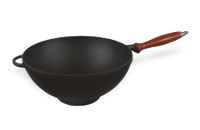 Сковорода чугунная «WOK», 260х80 мм с деревянной ручкой