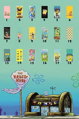 Чехол силиконовый Sponge Bob для всех моделей Samsung, фото 2