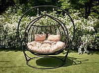 Подвесное кресло Галант полосатый черный