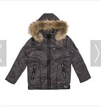 Детская куртка для мальчика RIZZIBOY Италия 01037 серый
