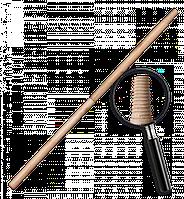 Черенок деревянный, лакированный IT (матричная резьба). Длина: 120 см Диаметр: 25 мм, TVI24120 BRADAS POLAND