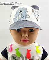 Кепки детские оптом 44 по 50 размер с ушками детская кепка для мальчика