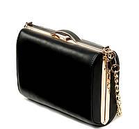 Жіночий святковий клатч 8653 Сумка - клатч жіночий чорний з шкірозамінника, фото 1