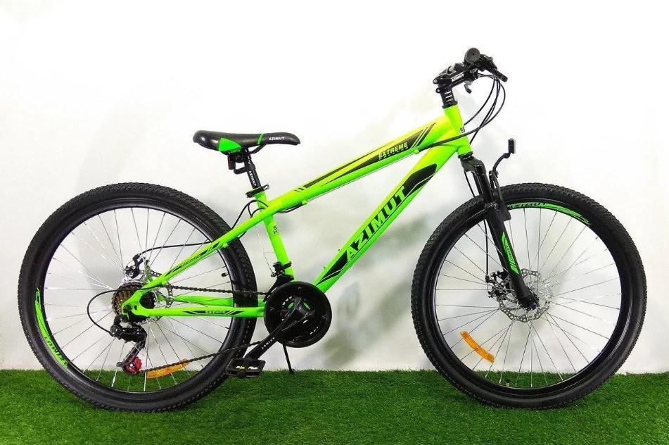 "Спортивный велосипед 26 дюймов Azimut  Extreme FRD рама 14"" GREEN"