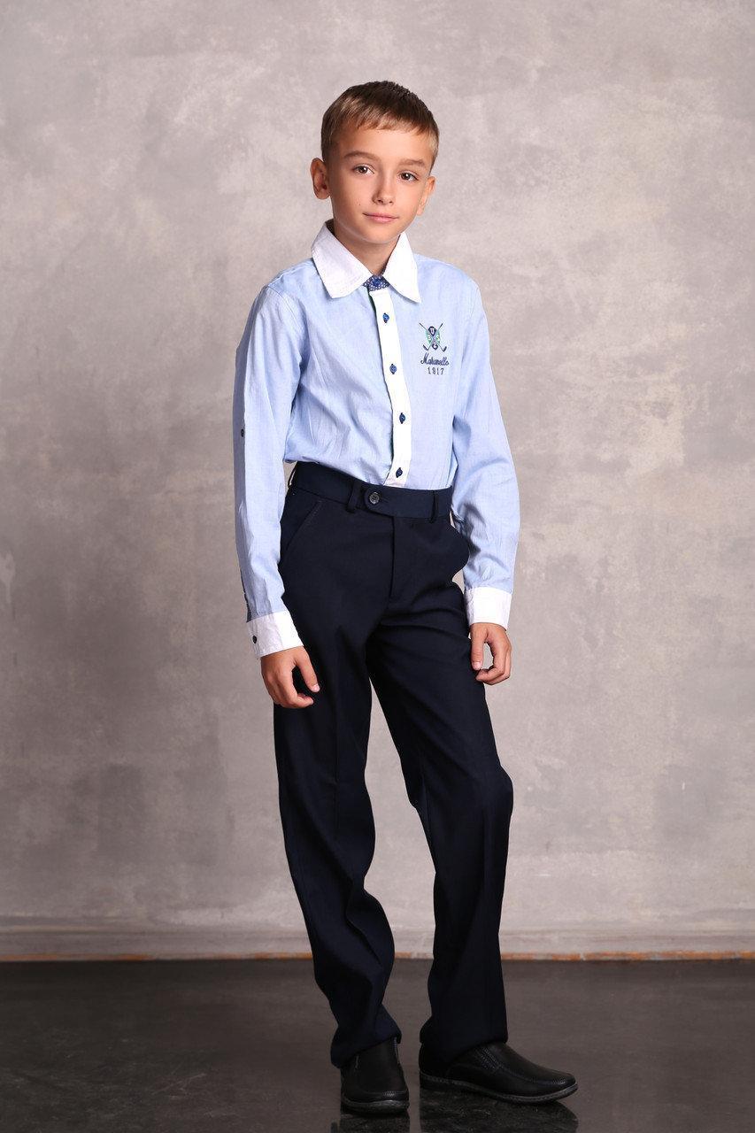 Детская рубашка для мальчика Школьная форма для мальчиков UBS2 Испания 0812 Для мальчиков, 140, 100 % коттон,