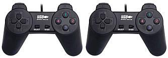 Проводной USB джойстик для ПК Dellta DJ-7012 2 шт (25136)