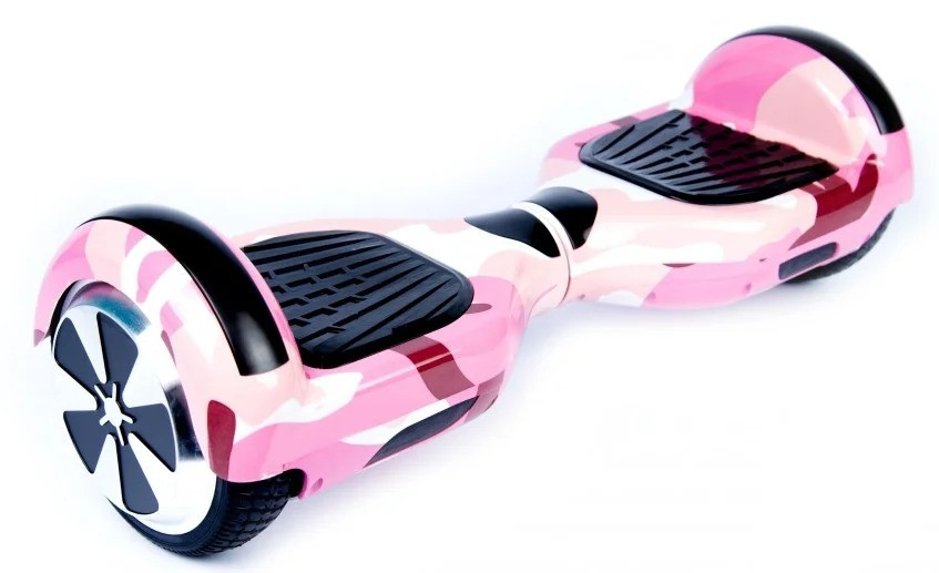 Гироборд Smart Balance 6,5 дюймов Гироскутер Цвет - Розовый камуфляж полная комплектация