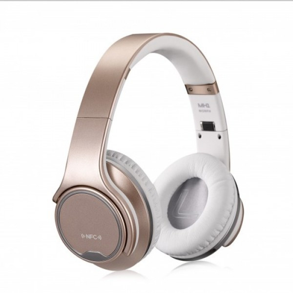 Беспроводные Bluetooth Наушники блютуз SODO MH1 + колонка 2в1 Бежевый (46017)