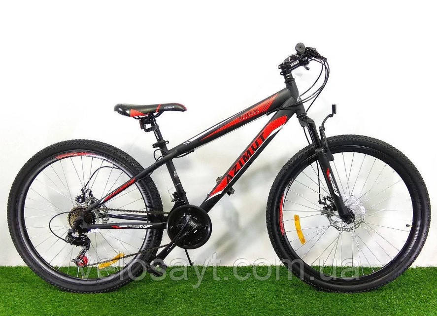 "Спортивный велосипед 26 дюймов Azimut  Extreme FRD рама 14"" BLACK-RED"