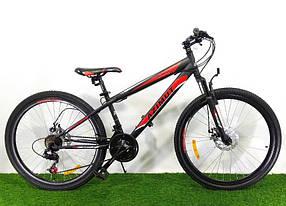 """Спортивний велосипед 26 дюймів Azimut Extreme FRD рама 14"""" BLACK-RED"""