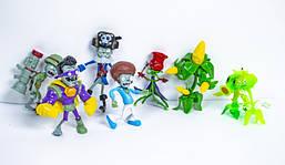 Набор большой фигурки Растения против Зомби Plants vs Zombies игрушка HT18434 8 персонажей с аксессуарами