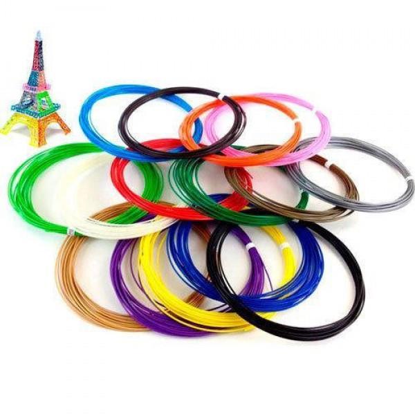 Пластиковая нить стержни для 3D ручки MCH 20 цветов 200 метров