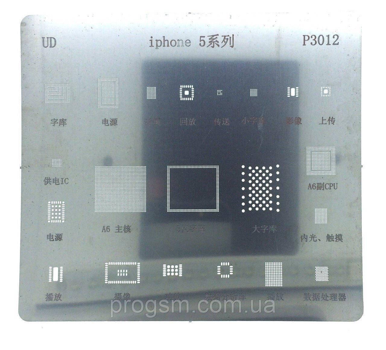 Трафарет (Шаблон) iPhone 5