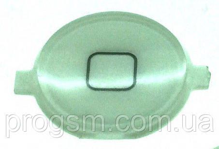 Кнопка центральная iPhone 4 White (пластиковая)
