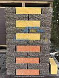 Кирпич для забора тычковой, фактура скала, узкий 220х57х65мм, фото 9
