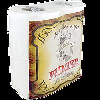 """Бумага туалетная """"PRIMIER"""" 2 слоя, 150 листов (1уп/4шт)(1ящ/24уп)"""