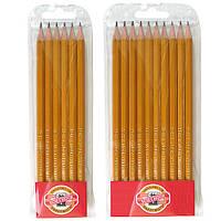 Олівець графітний 1570,  2Н-2В, 6 шт.