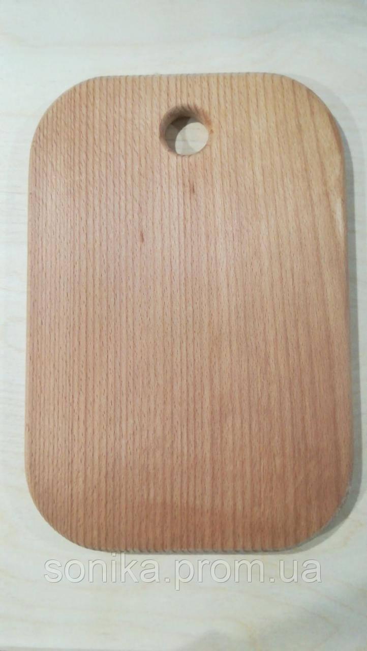 Дошка обробна з дерева овальна (бук) 26 см