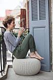 Пуф Keter Knit ( Cozy ) Single Seat Cloudy Grey ( світло - сірий ) з штучного ротанга, фото 9