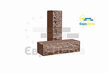 Облицовочный кирпич скала (ложковой) коричневый
