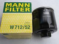 Фильтр масляный Mann W712/52 WV Golf IV/Bora/Polo/Lupo Audi A2 ,Skoda Fabia/Octavia/Felicia