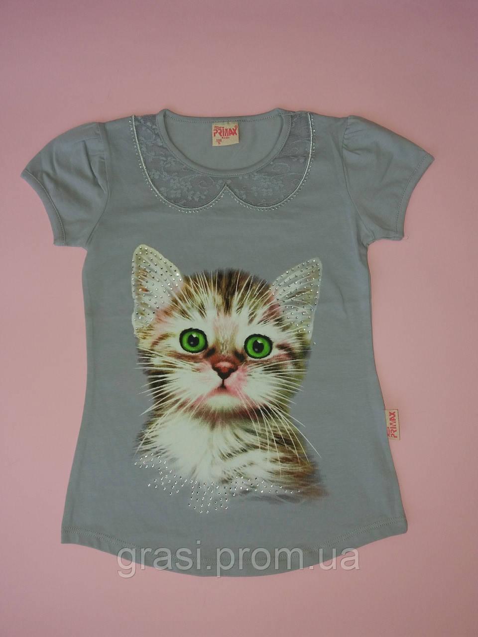 Летняя футболка для девочки 5-8 лет