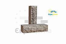 Облицовочный кирпич скала (ложковой) графит