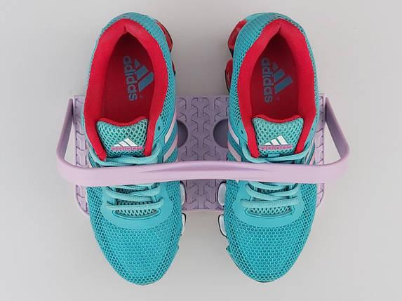 Подвесной органайзер для обуви сиреневого цвета. Длина 27 см, высота 13 см, фото 2