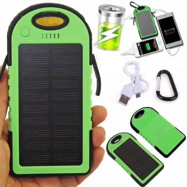 УМБ Solar Power Bank 30000 mAh на солнечных батареях зеленый