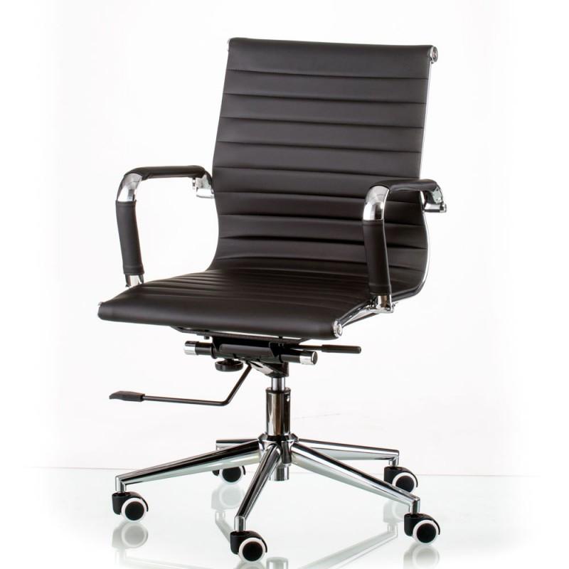 Крісло офісне Special4You Solano 5 artleather black (E5340)