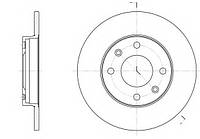 Тормозной диск передний DACIA LOGAN,RENAULT MEGANE I (1997-2001г),CLIO II(2001-),пр-во ABE C3R002ABE, фото 1