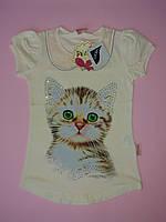 Летняя футболка для девочки рост 104