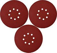 Круг шлифовальный с липучкой Ø= 180мм, зерно Р100, 3шт Yato YT-82341